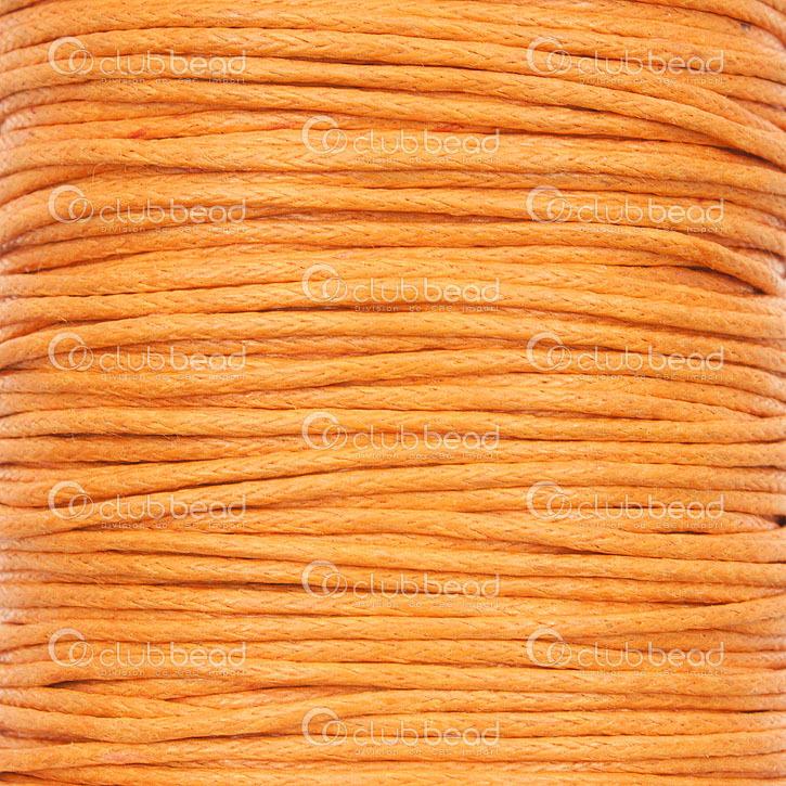 a67ba0ef343 Cotton Waxed Cord 1mm Orange 100 Yards - 1604-0120 - Club Bead