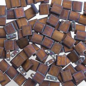 1101-7702-7.2GR - Bille de Verre Perle de Rocaille Tila 5MM Miyuki Cuivre Métallique Mat Opaque 2 Trous Japon TL2005 1101-7702-7.2GR,Billes,Verre,Tila,Bille,Perle de Rocaille,Verre,Verre,5mm,Carré,Tila,Brun,Cuivre,Métallique,Mat,montreal, quebec, canada, beads, wholesale