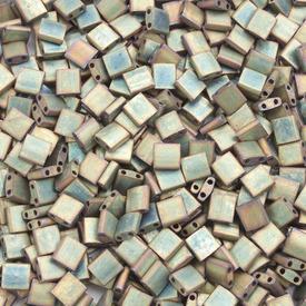 1101-7721-7.2GR - Bille de Verre Perle de Rocaille Tila 5MM Miyuki Kaki Irisé Métallique Mat 2 Trous Japon TL2035 1101-7721-7.2GR,Billes,Verre,Tila,Bille,Perle de Rocaille,Verre,Verre,5mm,Carré,Tila,Beige,Kaki,Irisé,Métallique,montreal, quebec, canada, beads, wholesale