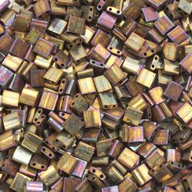 1101-7722-7.2GR - Bille de Verre Perle de Rocaille Tila 5MM Miyuki Or Irisé Métallique 2 Trous Japon TL462 1101-7722-7.2GR,Billes,Verre,Tila,Bille,Perle de Rocaille,Verre,Verre,5mm,Carré,Tila,Brun,Or,Irisé,Métallique,montreal, quebec, canada, beads, wholesale