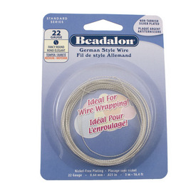 180B-522 - Beadalon Copper Wire Round Fancy 22 Gauge Silver 5m USA 180B-522,Beadalon,Copper,Wire,Round Fancy,22 Gauge,Silver,5m,USA,Beadalon,Non-Tarnish Wire,montreal, quebec, canada, beads, wholesale
