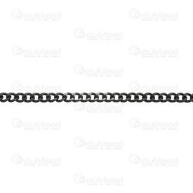 2601-1122-BN - Chaîne Gourmette Acier Inoxydable 304 Plat Noir Rouleau de 5m 2601-1122-BN,Chaînes,Recherche par styles,Stainless Steel 304,Gourmette,Chaîne,Plat,3.5MM,Noir,Rouleau de 5m,Chine,montreal, quebec, canada, beads, wholesale
